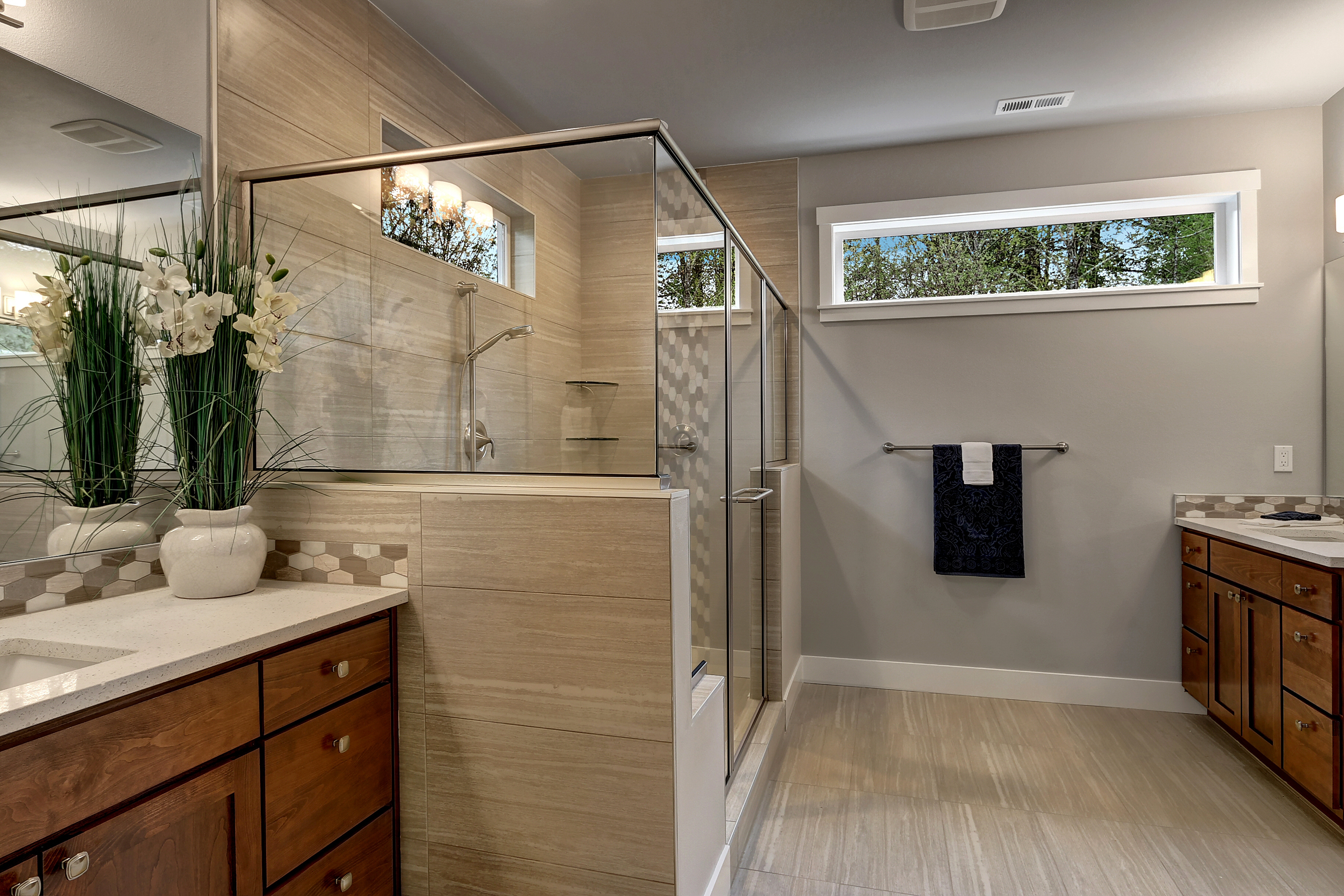 Spa Master Bath Walk In Shower