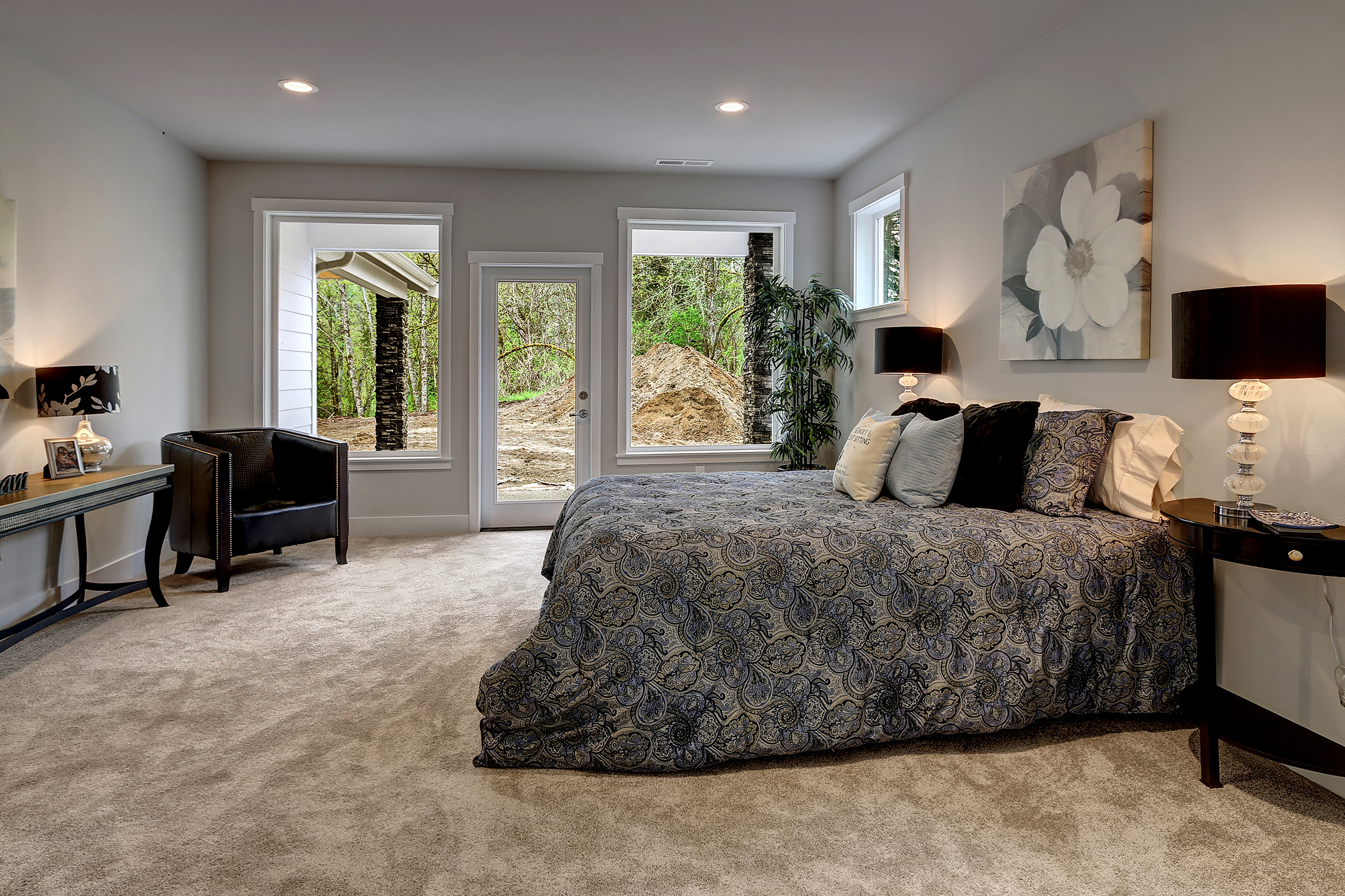 Master Bedroom with Walkout