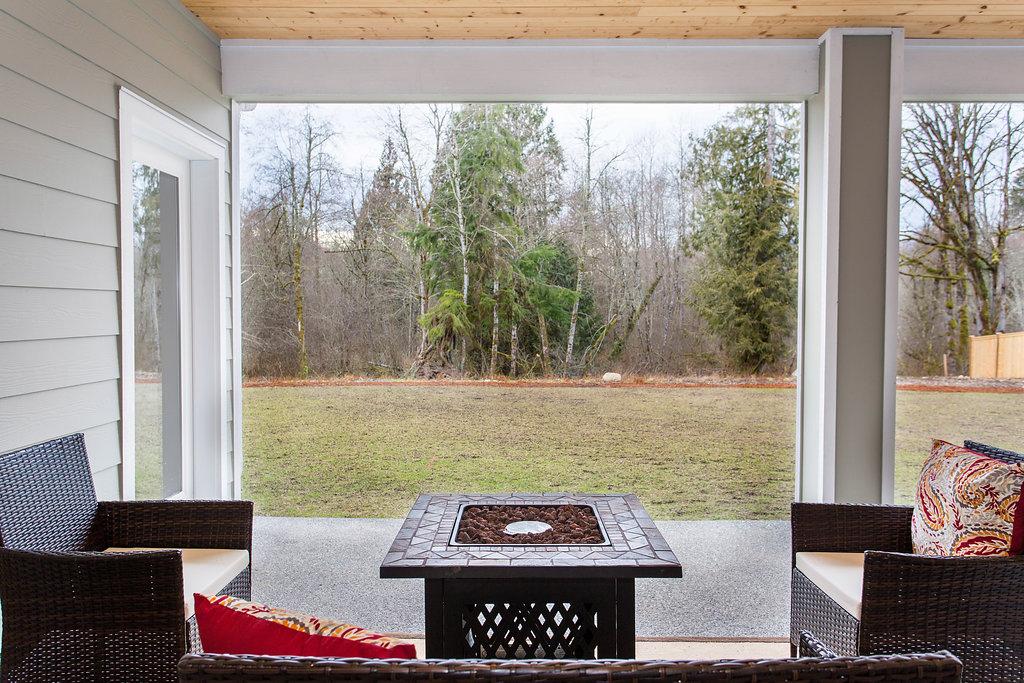 Outdoor patio and backyard