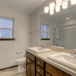 raised sinks and mirror