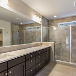 dual vanities and walk in shower