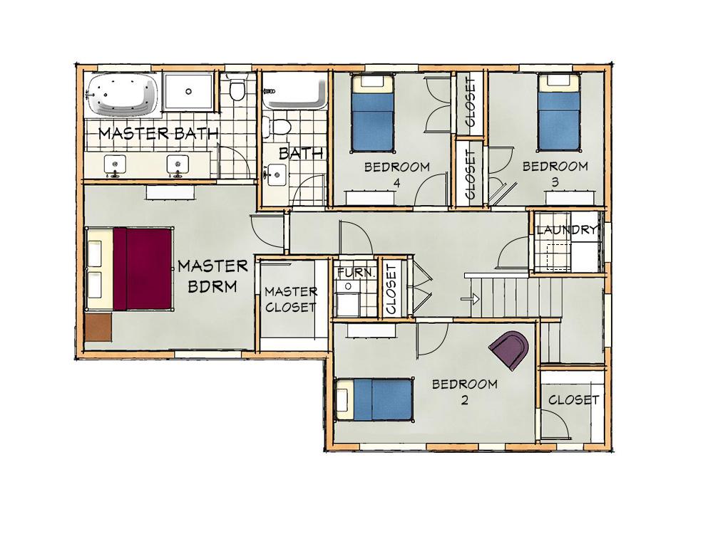 a upper floorplan