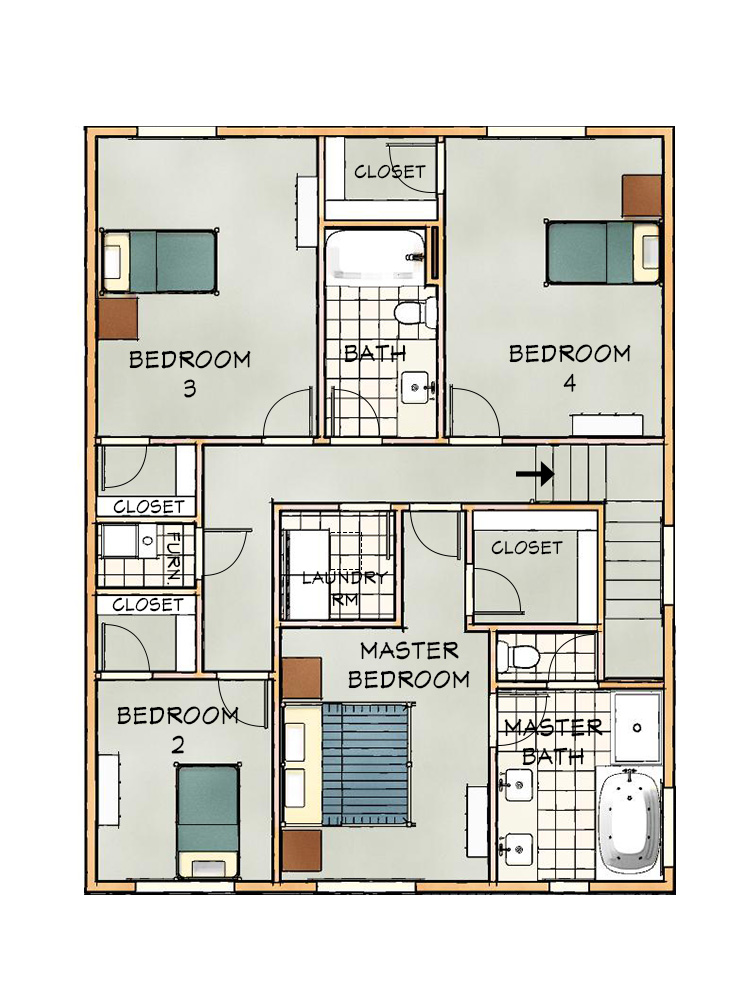 B Upper floorplan