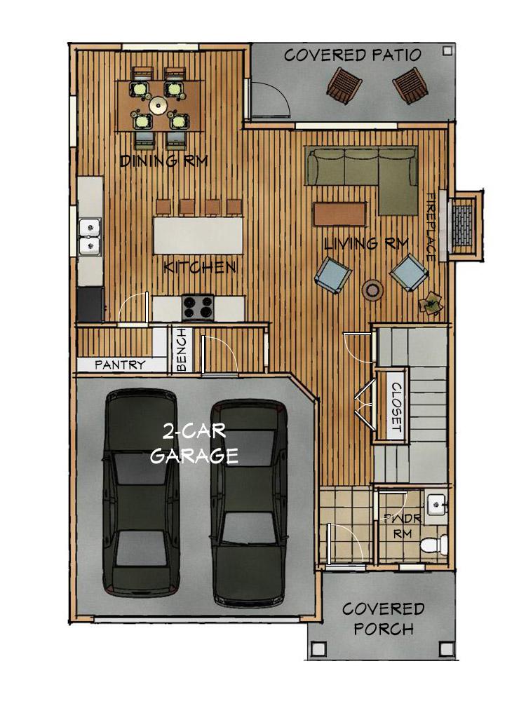 D main floorplan