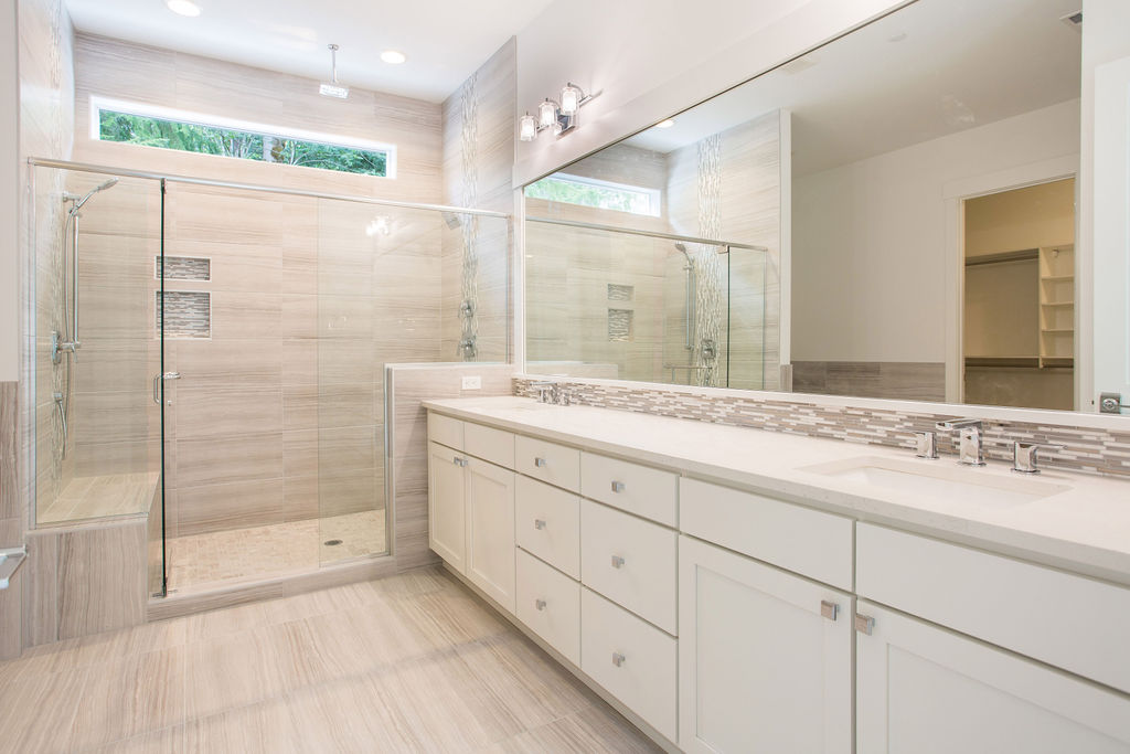 Dual Vanity Master Bath with Walk-In Shower
