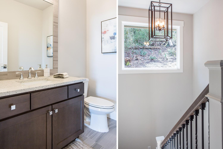 bathroom stairway