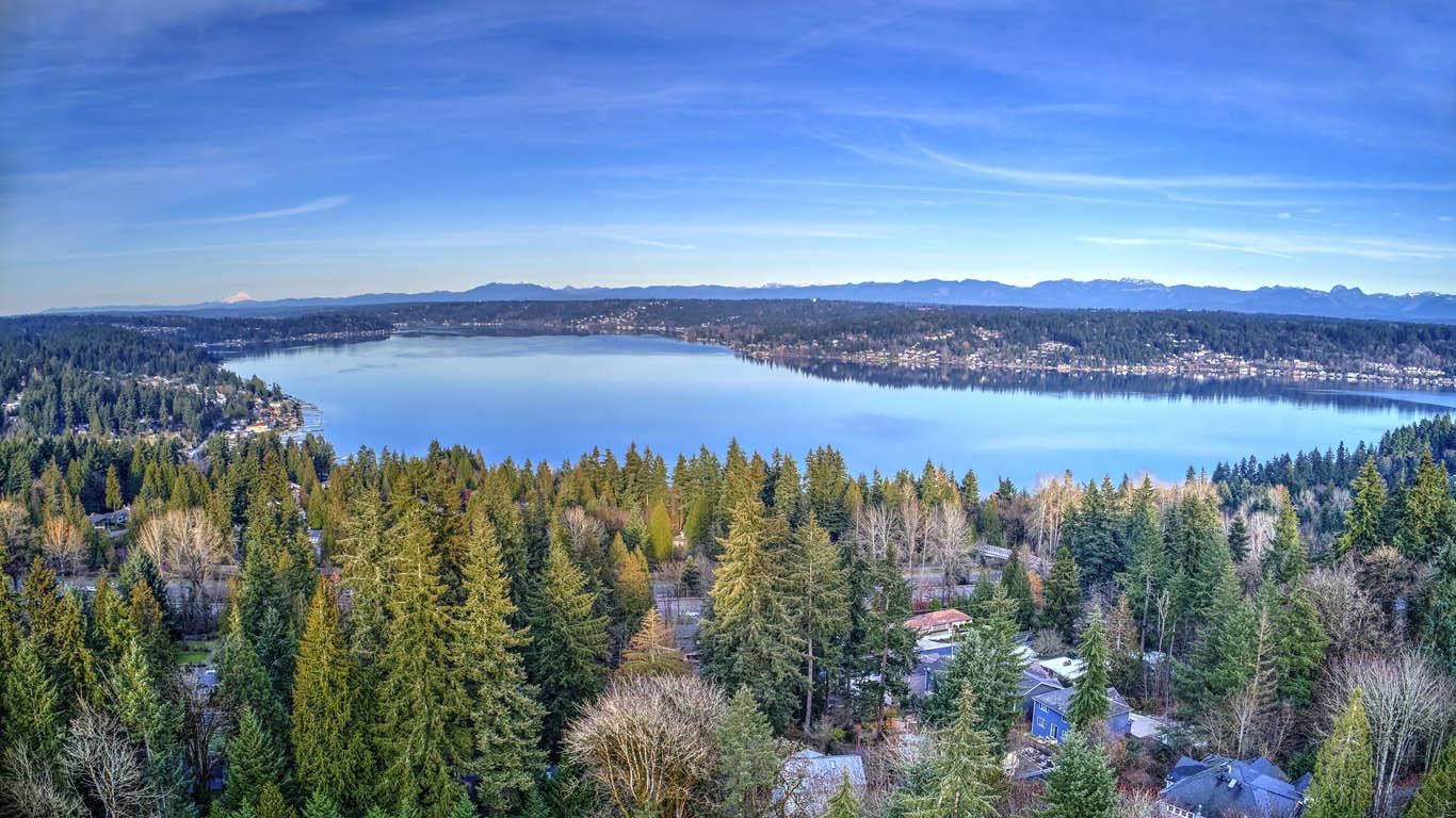 Drone Views of Lake Sammamish