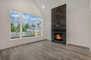 Carnation Lot 2 living room fireplace