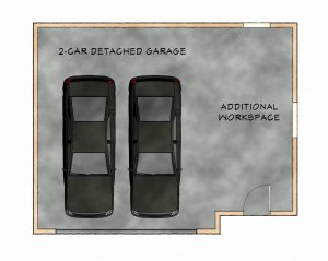 Detached garage workshop floorplan