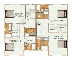 bldg h upper floorplan